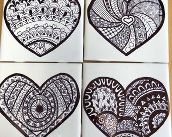 Mandela Heart Coasters- custom colors