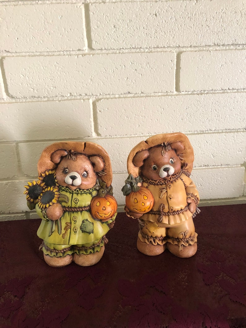 Ready to Paint Scarecrow Boy Bear 9 Ceramic Bisque