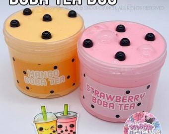 Boba Tea Duo Slime Pack Satisfying Slime
