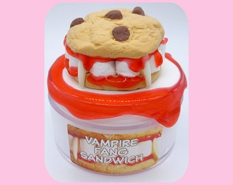 Vampire Fang Sandwich Scented DIY Clay Slime