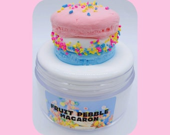 Fruity Pebble Macaron Scented DIY Clay Slime