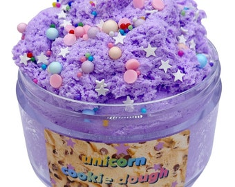 Unicorn Cookie Dough Scented Cloud Cream Slime