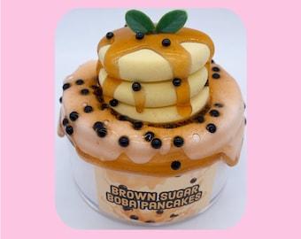 Brown Sugar Boba Pancakes Scented DIY Clay Slime