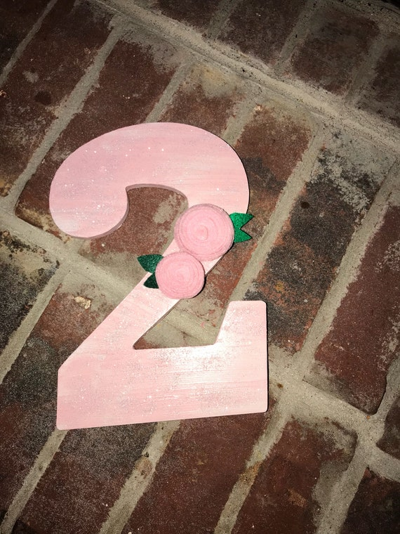 Number Two Party Decoration Glitter Party Prop Second Birthday Party Decoration Girl S Birthday Party Decoration