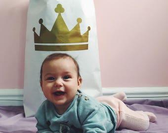 C r o w n Eco papier sac, intérieur pour enfant, rangement des jouets.
