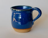 Ceramic pitcher blue
