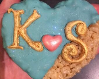 Wedding, Heart, Bridal shower, Love  Rice Krispies Treats
