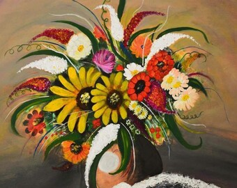 modern art flower painting