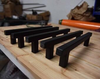 Square barn door industrial metal handle pull vanity drawer large