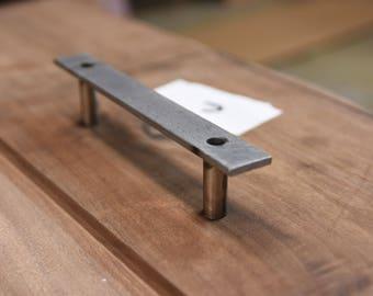 Simple Flat Barn Door Handle / Vanity black industrial pull handles modern contemporary large