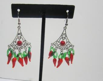 Handmade Pepper Earrings