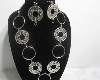 Handmade stainless steel necklace set
