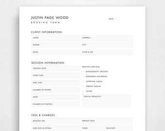 booking form booking template booking form photography photography forms photography form templates photography session guides