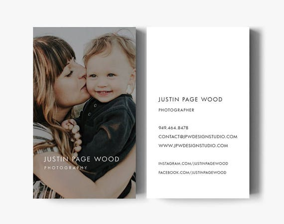 Business card design business card template photography etsy image 0 wajeb Choice Image