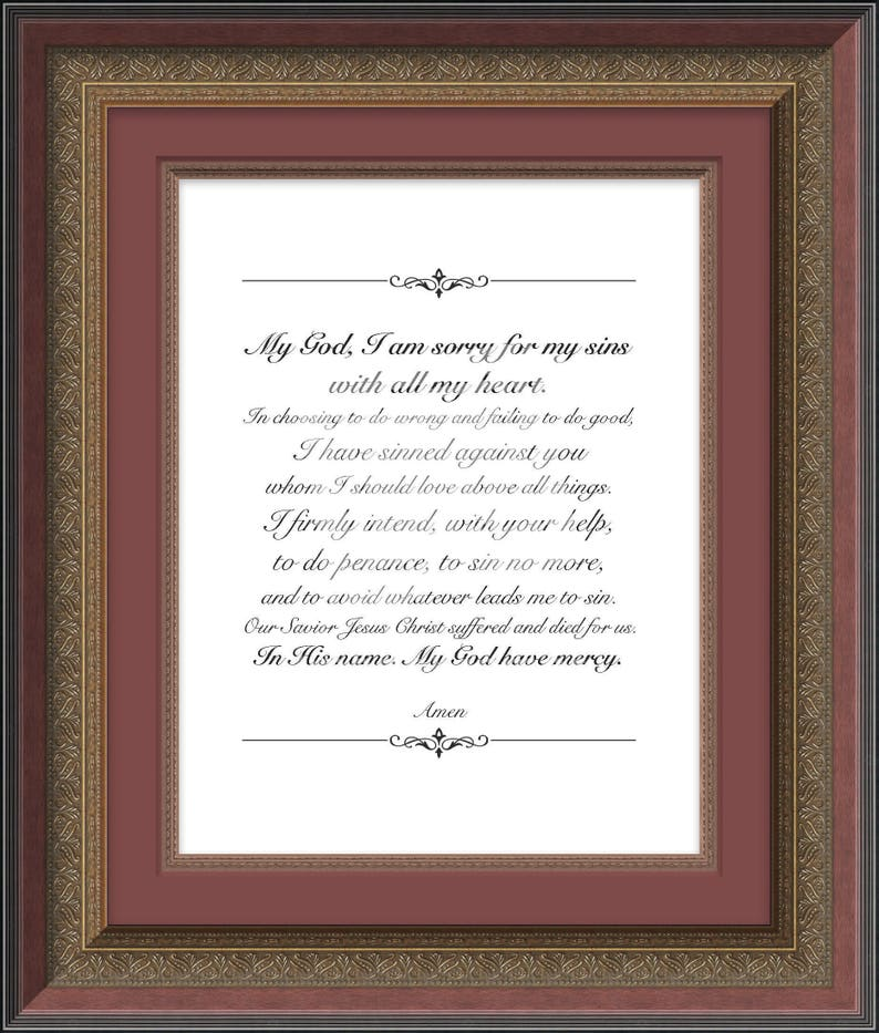 picture regarding Act of Contrition Prayer Printable identify Act of Contrition, Christian Prayer Print, Spiritual Wall Artwork, Catholic Print, Affirmation Present, Baptism Reward, Christian Print