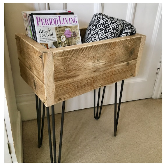 Rustic Storage Box Large Toy Box Hairpin Legs Scaffold Etsy