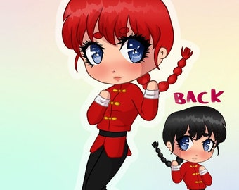 In Stock Ranma 12 Ranma Saotome BoyGirl version clear acrylic charm keychain