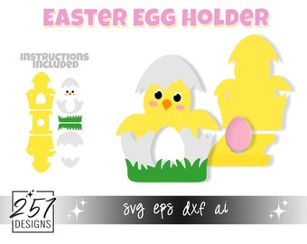 Chick Chocolate Egg Holder SVG