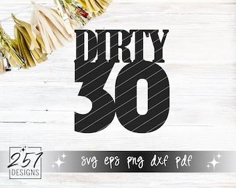 Dirty 30 SVG