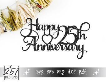 Happy 25th Anniversary SVG