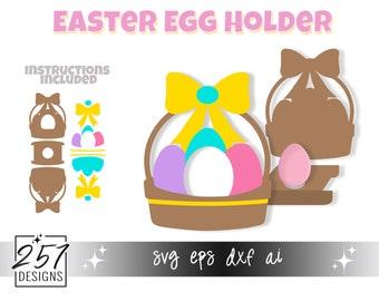 Easter Basket Chocolate Egg Holder SVG