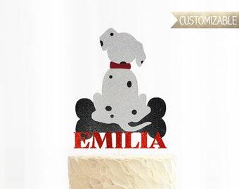 101 Dalmatians Theme Cake Topper