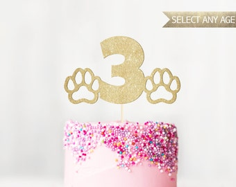 Age & Paws Cake Topper