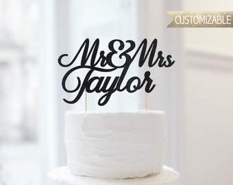 Custom Mr. & Mrs. Cake Topper