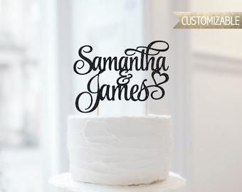 Custom Names Cake Topper