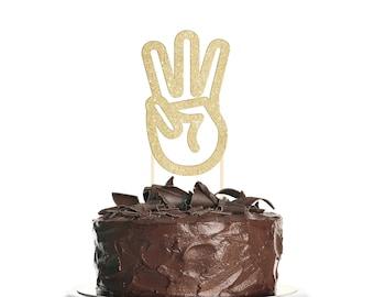 Three Fingers Cake Topper