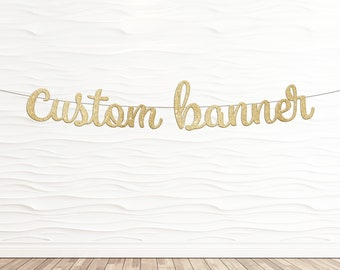 Custom Banner in Cursive Font