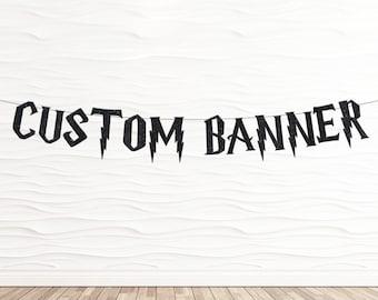 Custom Banner in Harry Potter Font