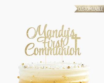 Custom First Communion Cake Topper