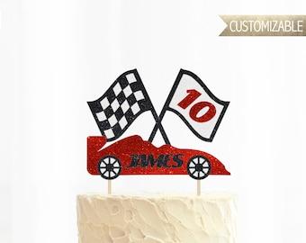 Custom Racecar Cake Topper
