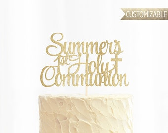Custom 1st Holy Communion Cake Topper