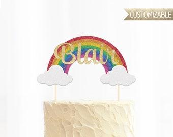 Custom Rainbow Cake Topper