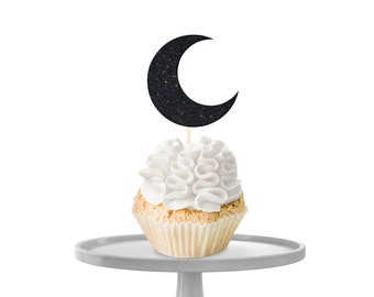 Moon Cupcake Toppers