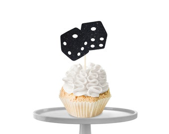 Dice Cupcake Toppers