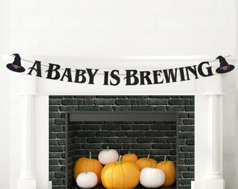 A Baby Is Brewing Banner