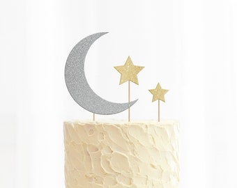 Moon & Stars Cake Toppers