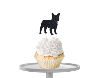 French Bulldog Cupcake Toppers
