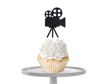 Video Camera Cupcake Toppers