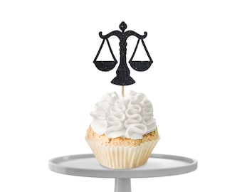 Scales of Justice Cupcake Toppers