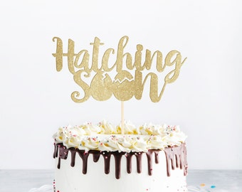 Hatching Soon Cake Topper