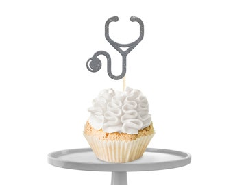Stethoscope Cupcake Toppers