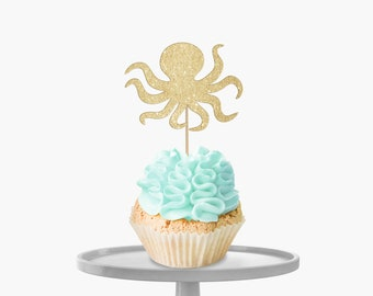 Octopus Cupcake Toppers