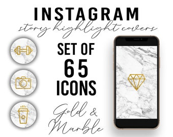 Set of 65 Lifestyle Instagram Story Highlight Covers