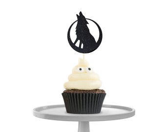 Howling Wolf Cupcake Toppers