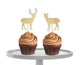 Deer Cupcake Toppers