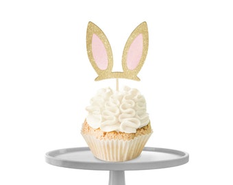 Bunny Ears Cupcake Toppers